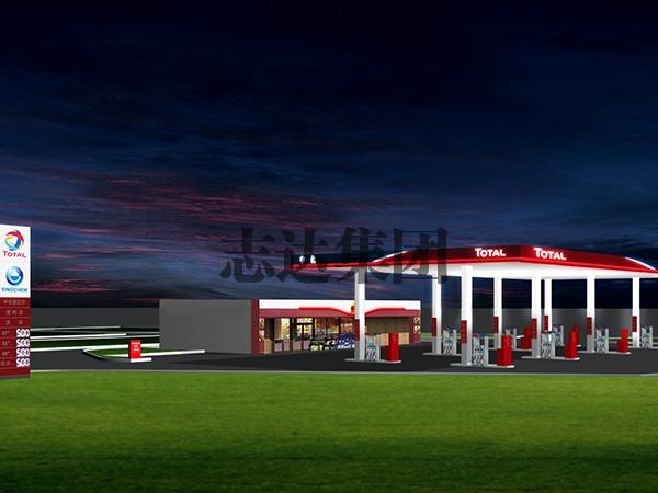 加油站-夜景
